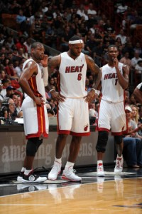 Wade James Bosh 200x300 PLAY OFF NBA AL VIA, PER JAMES È LA VOLTA BUONA?