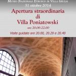 #VENERDI'ALMUSEO: APERTURA STRAORDINARIA DI VILLA PONIATOWSKI